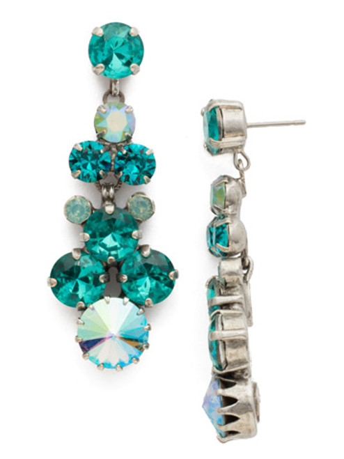 Sorrelli Sweet Mint Crystal Earrings edh27assmn