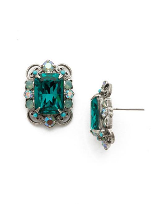 Sweet Mint by Sorrelli- Sugar Maple Crystal Earrings~ EDU38ASSMN