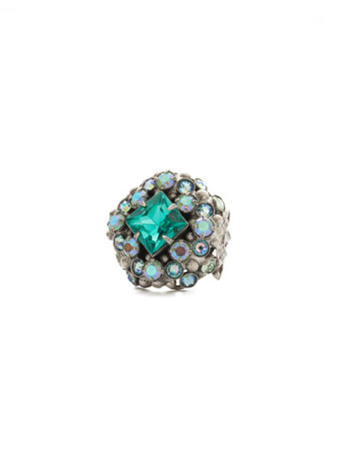 Sorrelli Sweet Mint Crystal Ring RDU10ASSMN