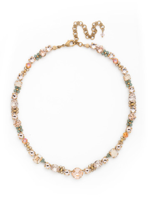 SORRELLI APRICOT AGATE CRYSTAL NECKLACE NDK1AGAP