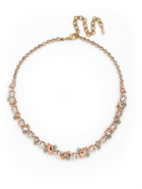 SORRELLI APRICOT AGATE CRYSTAL NECKLACE NCF6AGAP