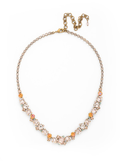 SORRELLI APRICOT AGATE CRYSTAL NECKLACE NDK17AGAP