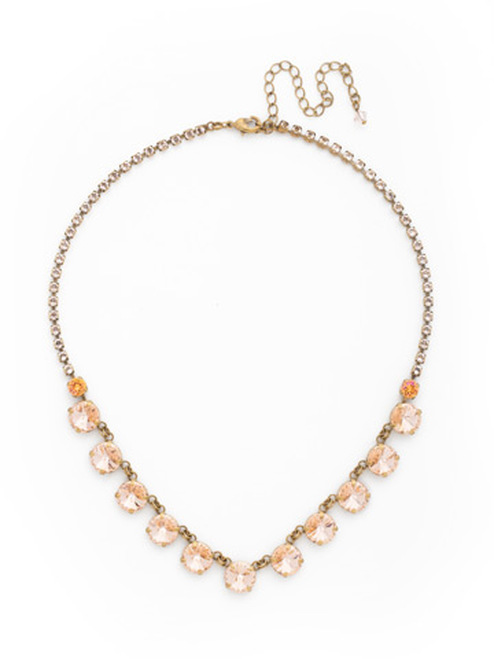 SORRELLI APRICOT AGATE CRYSTAL NECKLACE NDK6AGAP