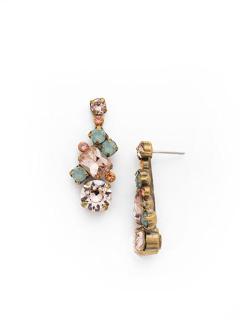 Sorrelli Apricot Agate - Glittering Multi-Cut Crystal Earrings~ ECF6AGAP