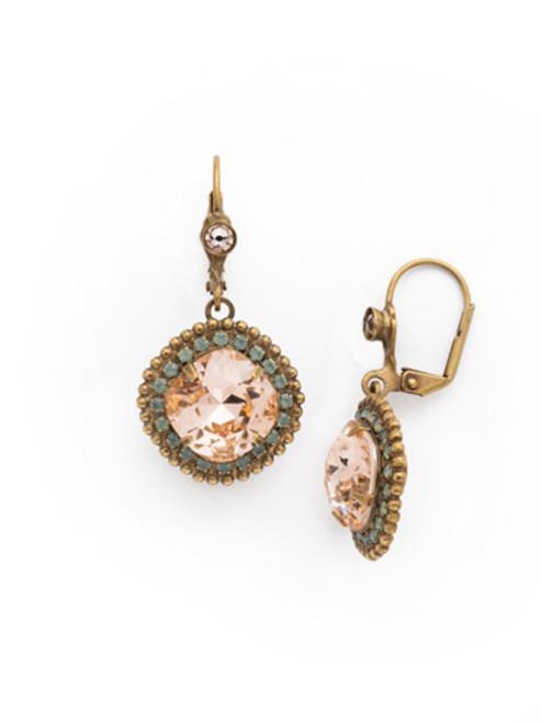 SORRELLI APRICOT AGATE-Cushion Cut Drop Dangle Earrings~ ECB20AGAP