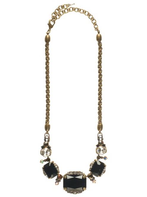Sorrelli Evening Moon Swarovski Crystal Necklace NCK4AGEM