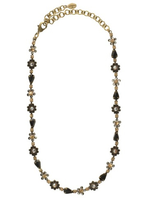 Sorrelli Evening Moon Crystal Necklace NBP90AGEM