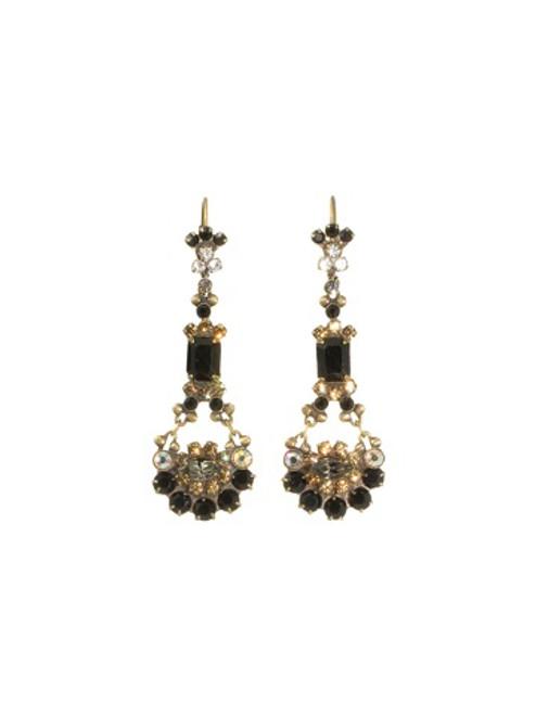 Sorrelli Evening Moon Crystal Earrings~EBT10AGEM