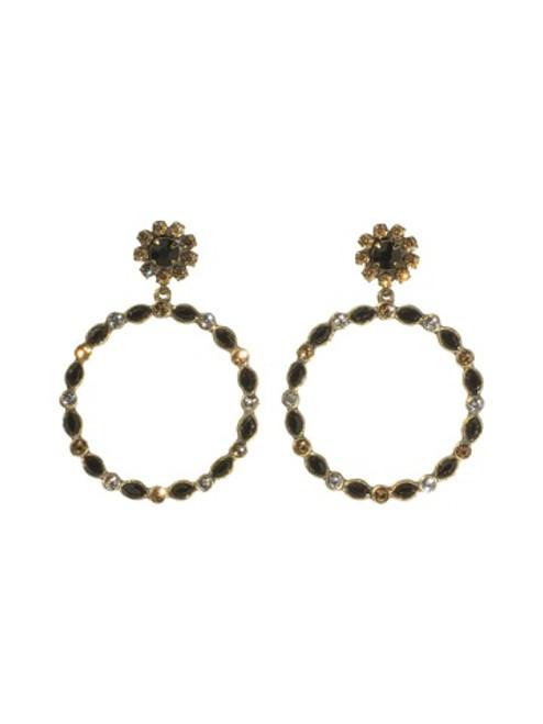 Sorrelli Evening Moon Crystal Earrings~EBR84AGEM