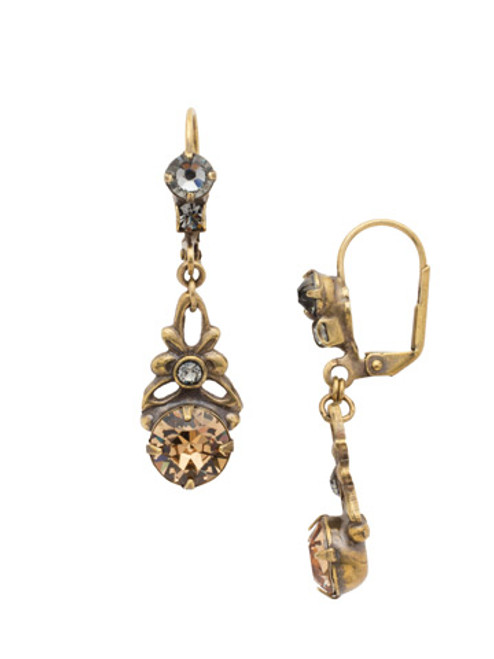 Sorrelli Evening Moon Crystal Earrings~EDH79AGEM