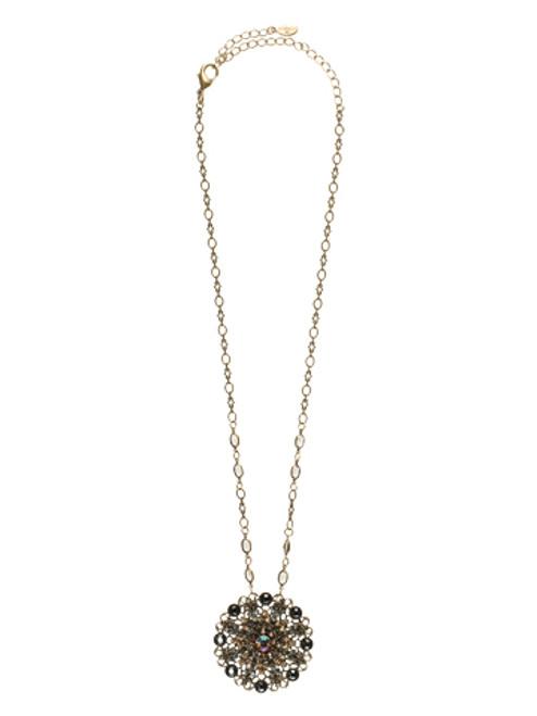 Sorrelli City Neutral Crystal Necklace NBP35AGCN