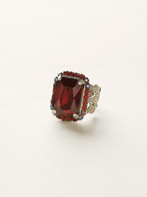 cranberry crystal ring by sorrelli rcf9ascb