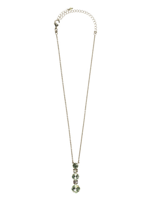 Sorrelli CUPCAKE- Three Tiered Drop Crystal Pendant Necklace~ NCF21ASCUP