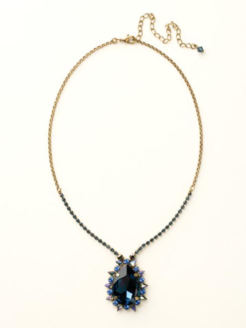 Sorrelli Dress Blues Crystal Necklace