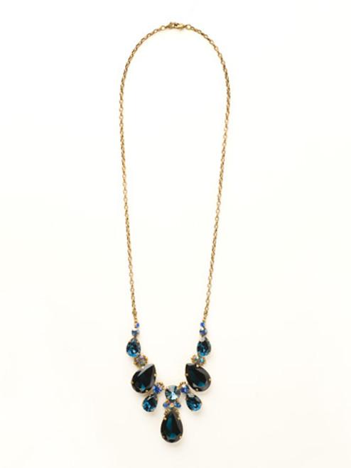 Sorrelli Dress Blues Crystal Necklace ncr77agdbl