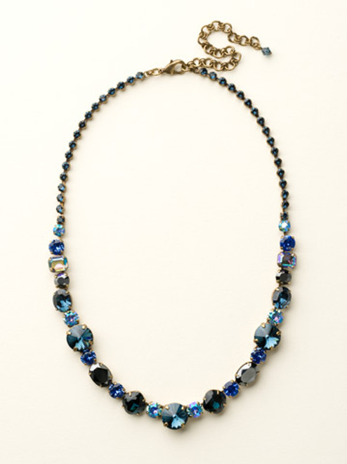 **SPECIAL ORDER**DRESS BLUES CRYSTAL NECKLACE BY SORRELLI~NCP38AGDBL