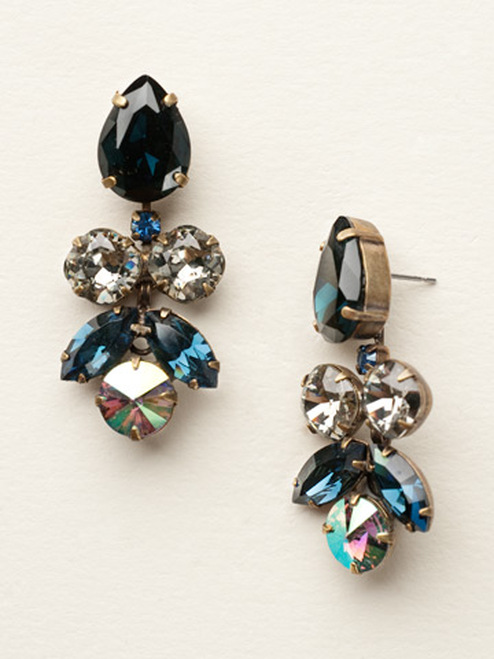 Dress Blues Crystal Earrings