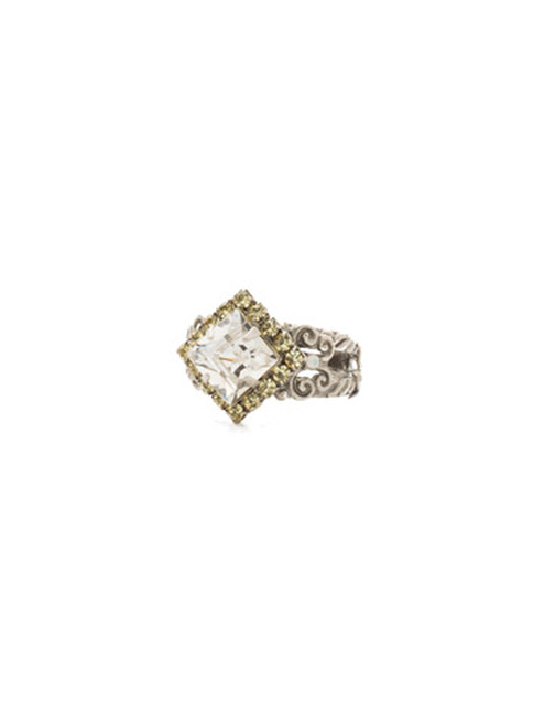Sorrelli Lemon Zest Crystal Ring