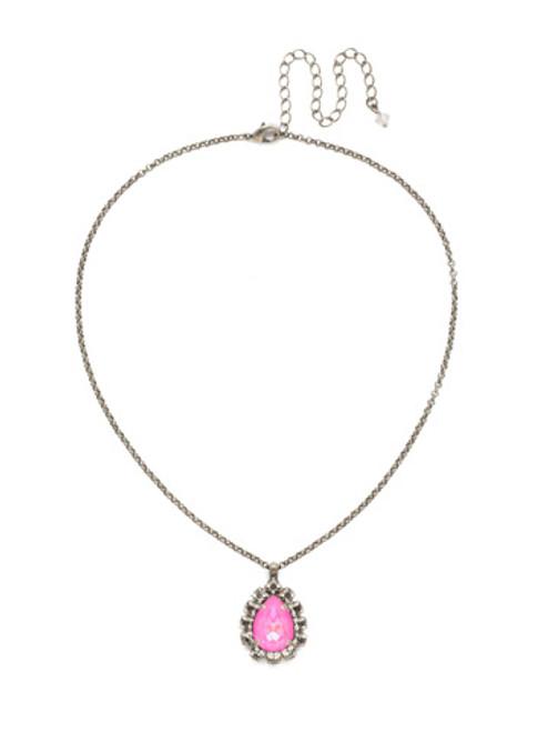 Sorrelli Pink Mutiny- Prickly Pear Crystal Necklace~ NDT28ASPMU