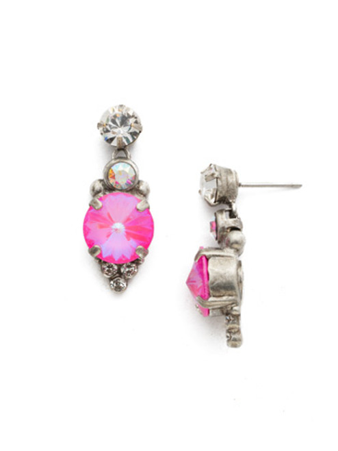 **SPECIAL ORDER**PINK MUTINY CRYSTAL EARRINGS BY SORRELLI~EDG26ASPMU