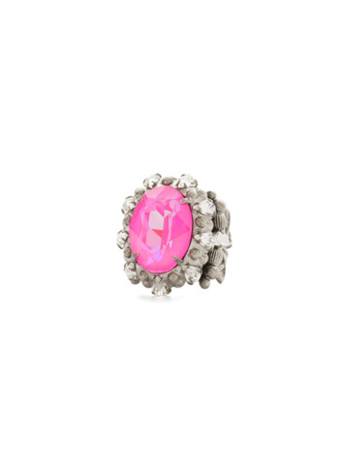 PINK MUTINY CRYSTAL RING BY SORRELLI RCJ2ASPMU
