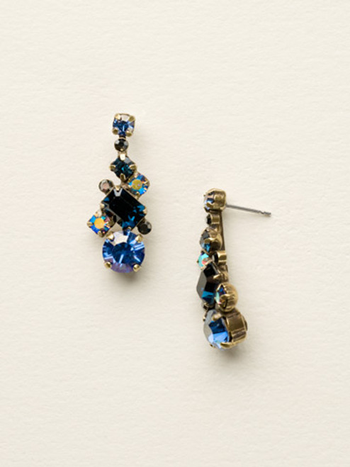 DRESS BLUES CRYSTAL EARRINGS BY SORRELLI ECF6AGDBL