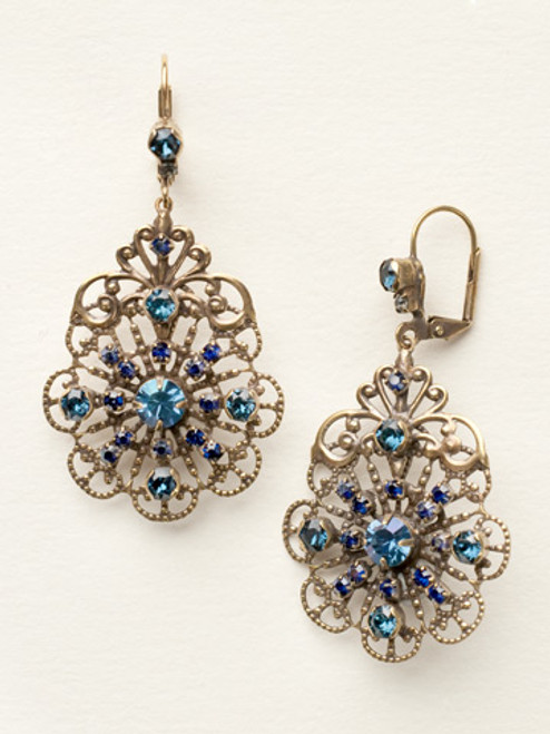 Sorrelli Dress Blues Crystal Earrings ecp23agdbl