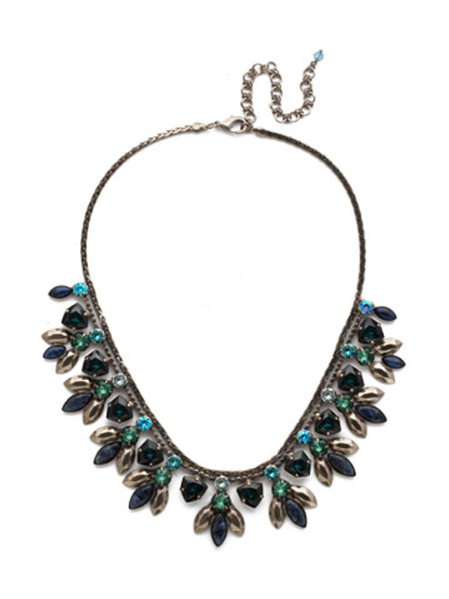 Sorrelli Blue Suede Euphorbia Crystal Necklace By Sorrelli~NDX5ASBSD
