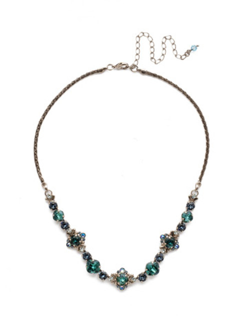 Sorrelli Blue Suede Crystal Necklace ndx4asbsd