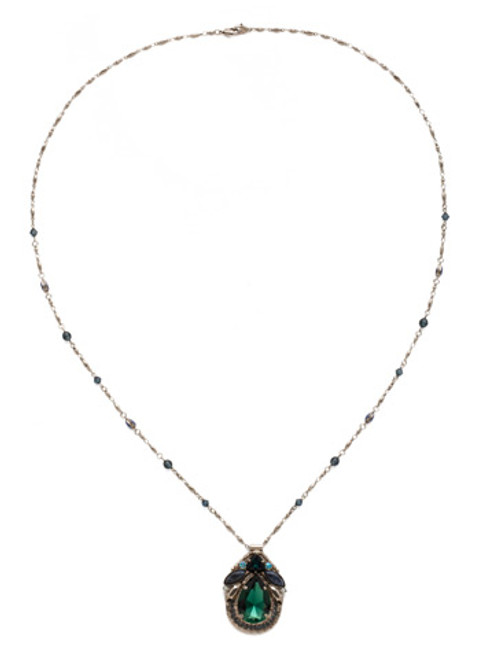 BLUE SUEDE NECKLACE BY SORRELLI NDX13ASBSD