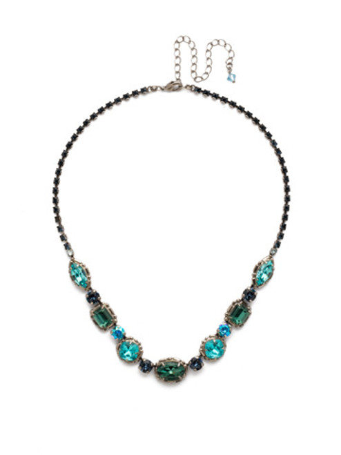 BLUE SUEDE NECKLACE BY SORRELLI NDX7ASBSD