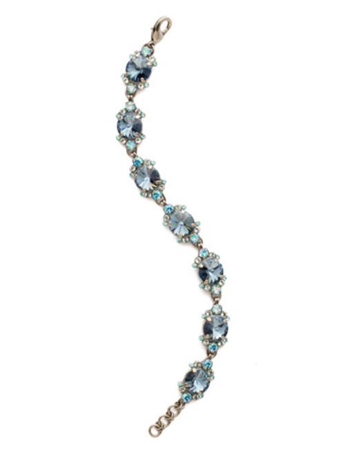 Blue Suede Crystal Bracelet
