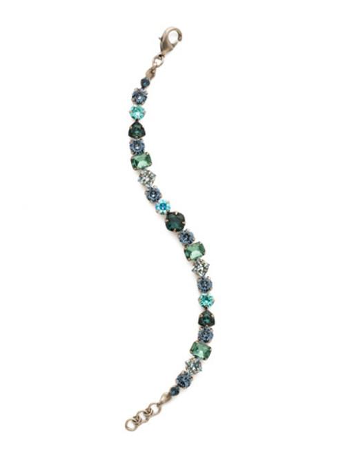 Sorrelli Blue Suede Crystal Bracelet bdx1asbsd