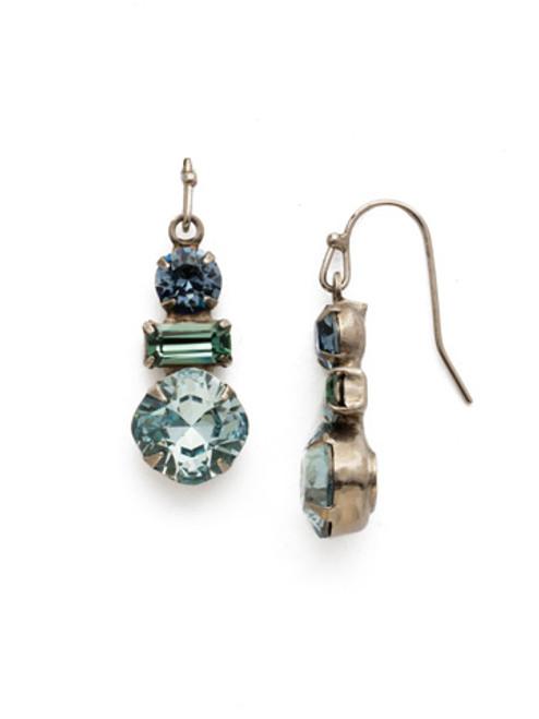 Sorrelli Blue Suede Crystal Earrings