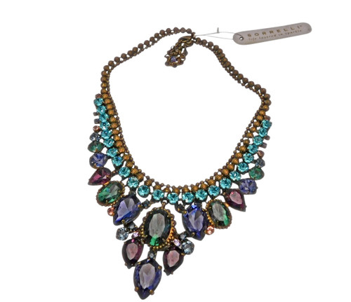 Jewel Tone Crystal Necklace by Sorrelli NDQ3AGJT