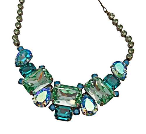 Sorrelli Sea Glass Crystal Necklace~NCT13ASSGL~