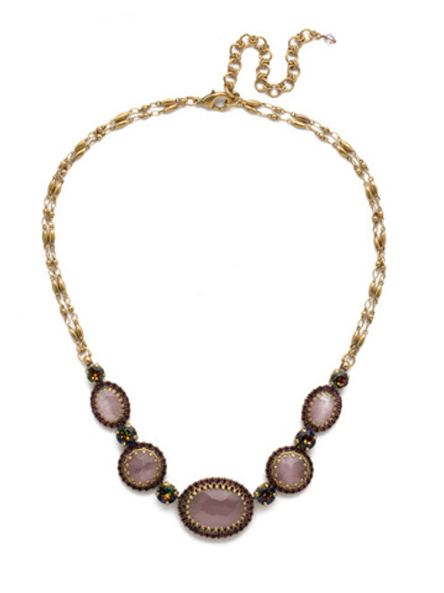 Royal Plum Sorrelli Sandstone Crystal Necklace