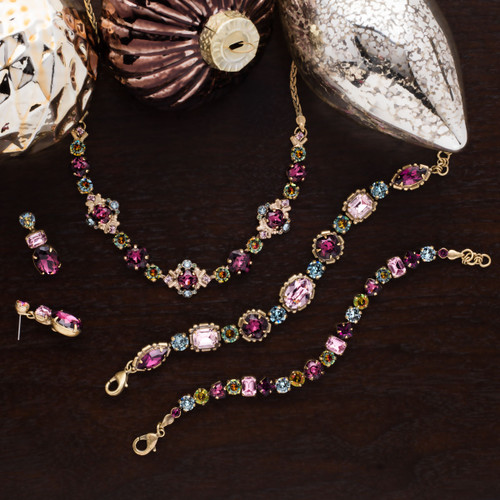 Sorrelli Royal Plum  Crystal Necklace~ndx4agrop Shown With BDX1AGROP BDX7AGROP EDQ6AGROP