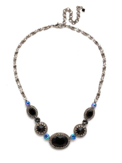 Sorrelli Black Tie Crystal Necklace ndw70asblt