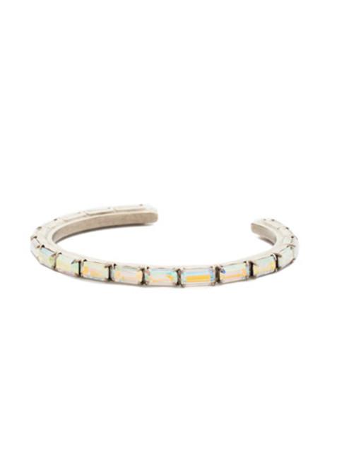 Sorrelli Crystal Aurora Borealis- Brilliant Baguette Cuff Bracelet~ BDK49ASCAB