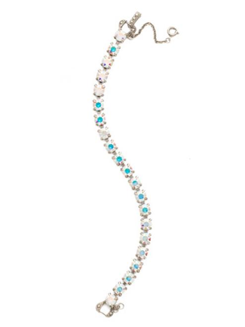Sorrelli Crystal Aurora Borealis~ Repeating Round Tennis Bracelet~ BCZ36ASCAB