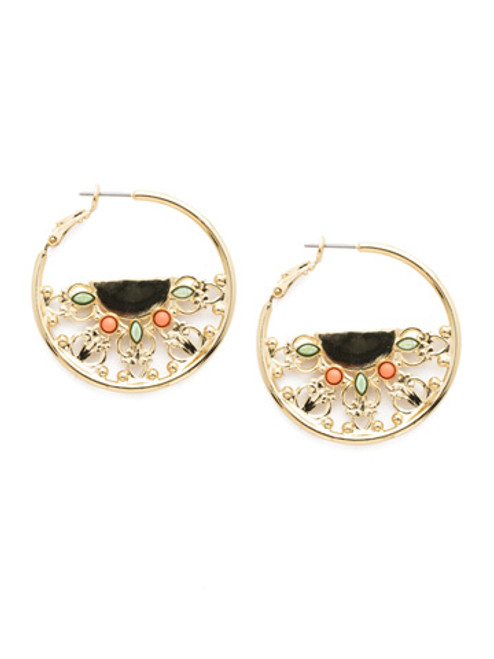 Mango Tango Crystal Earrings~