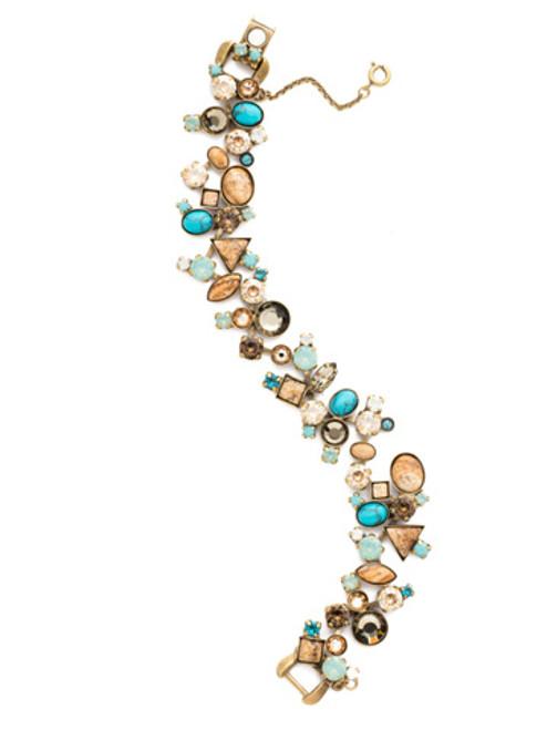 Gold Driftwood Crystal Bracelet