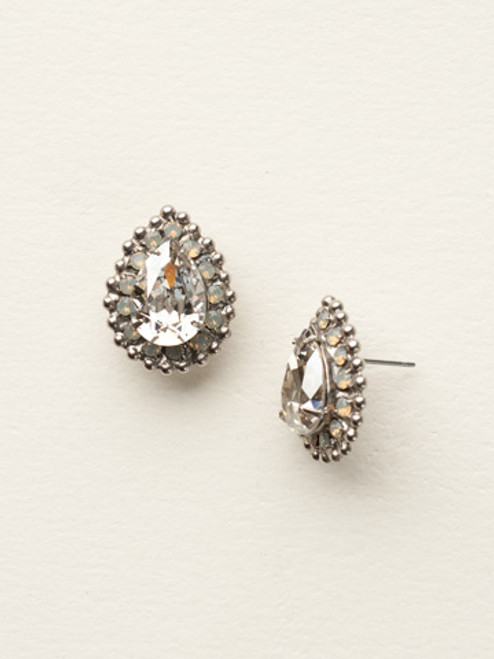 Golden Shadow Crystal Earrings