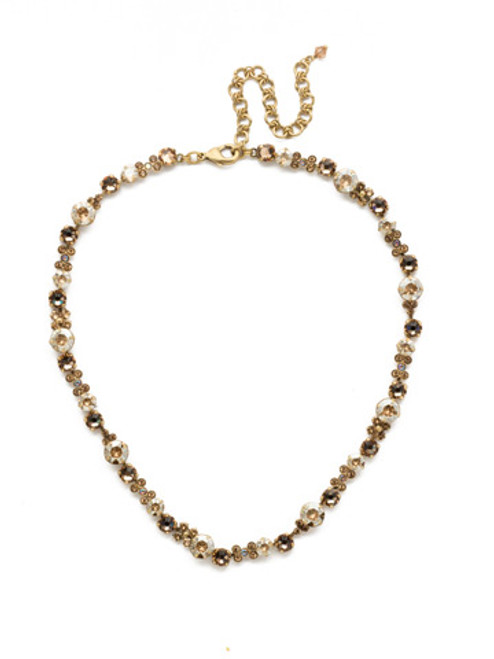 NEUTRAL TERRITORY CRYSTAL NECKLACE BY SORRELLI ndk10agnt