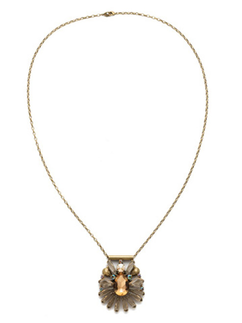 NEUTRAL TERRITORY CRYSTAL NECKLACE BY SORRELLI NDK25AGNT