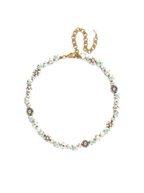 SNOWFLAKE CRYSTAL NECKLACE BY SORRELLI NBE2AGSNF