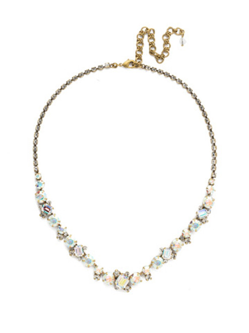 SNOWFLAKE CRYSTAL NECKLACE BY SORRELLI NDK17AGSNF
