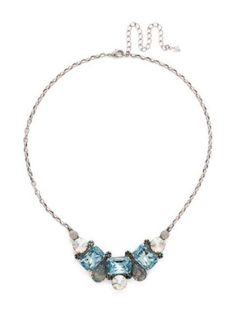 Sorrelli PEBBLE BLUE Crystal Necklace ndk8aspeb
