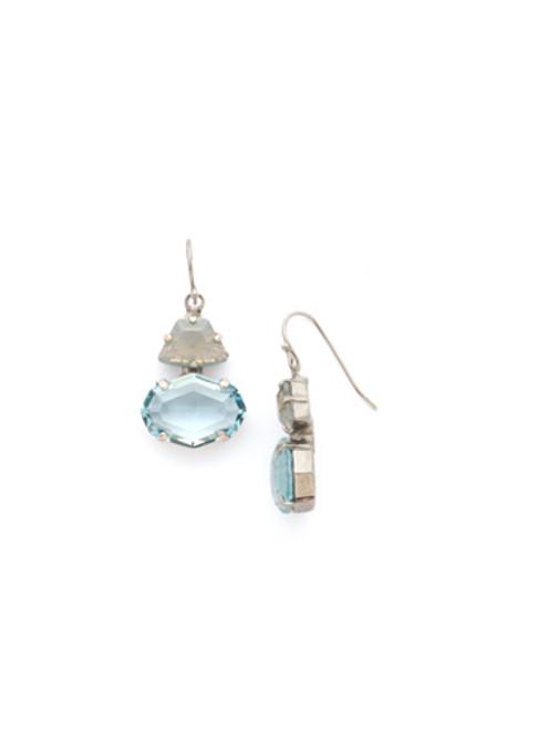 **SPECIAL ORDER**SORRELLI~PEBBLE BLUE Crystal Earrings~EDH66ASPEB